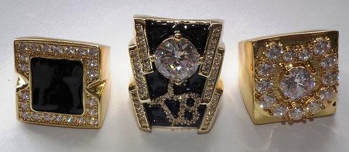 Replica Famous Elvis 3 Ring Set