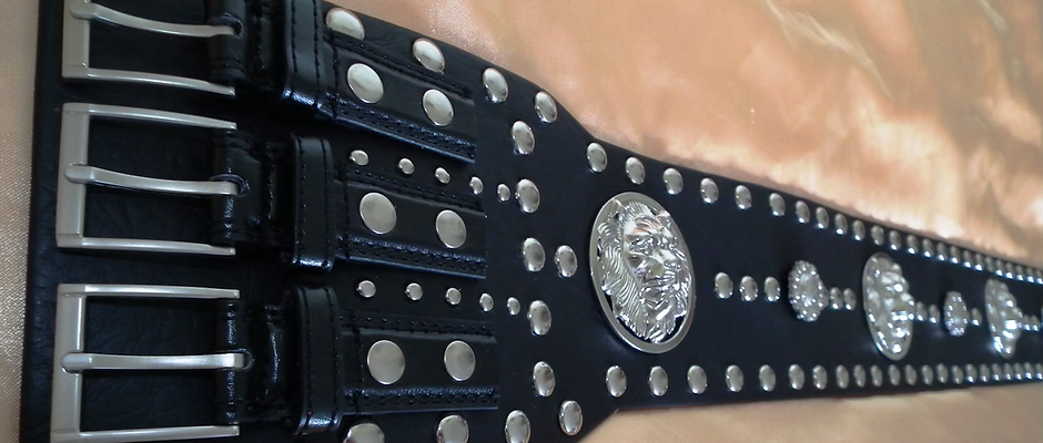 Elvis Style Studded Roustabout Belt