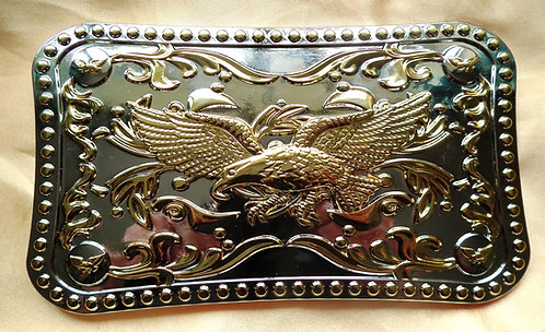Large Gold and Silver Flying Eagle Buckle