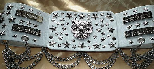 Silver Starry Owl Belt