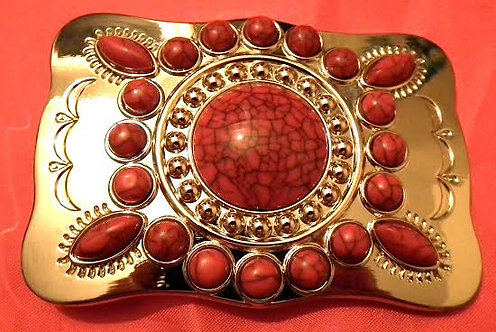Red Navajo Buckle