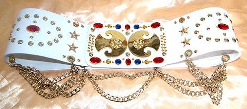 The Oval Studded Spade Belt