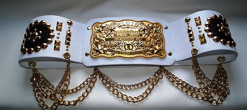 Elvis Style Nail Belt with Vegas Buckle