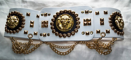 Lion Head Nail Belt