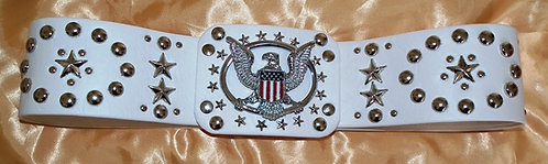 Silver Eagle and Oval After the Show Belt