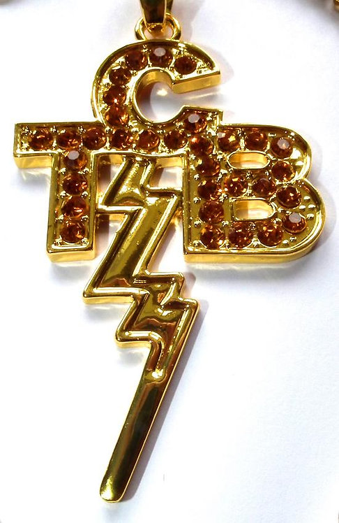 Gold TCB Pendant