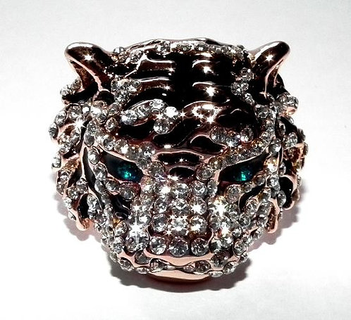Rose Gold/Silver Tiger Ring