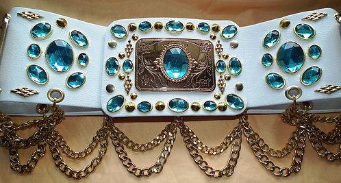 Elvis Style Turquiose Belt