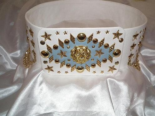 Elvis Style Pale Blue Starburst Belt