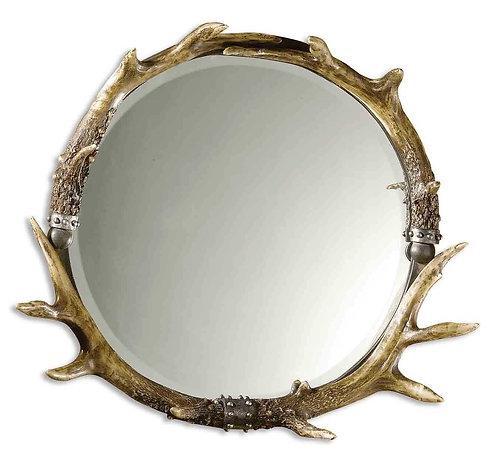 Houde Horned Round Mirror