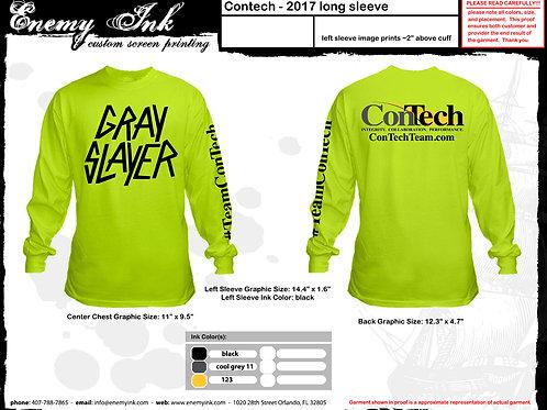 Gray Slayer T-shirt(Large Chest Print)