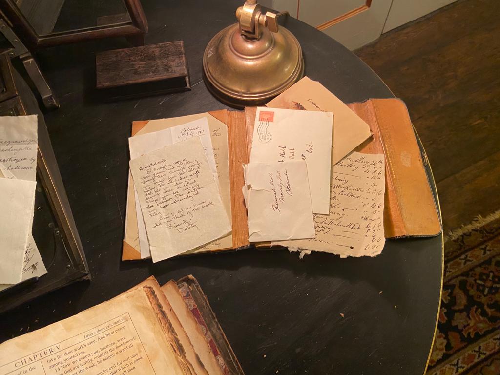 Reverend's desk full of paperwork
