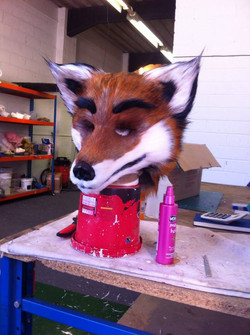 Fox pre dirty down and painting