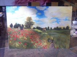 The Poppy Field near Argenteuil
