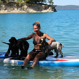 paddle canin éducateur canin var gorges du verdon lac de sainte croix