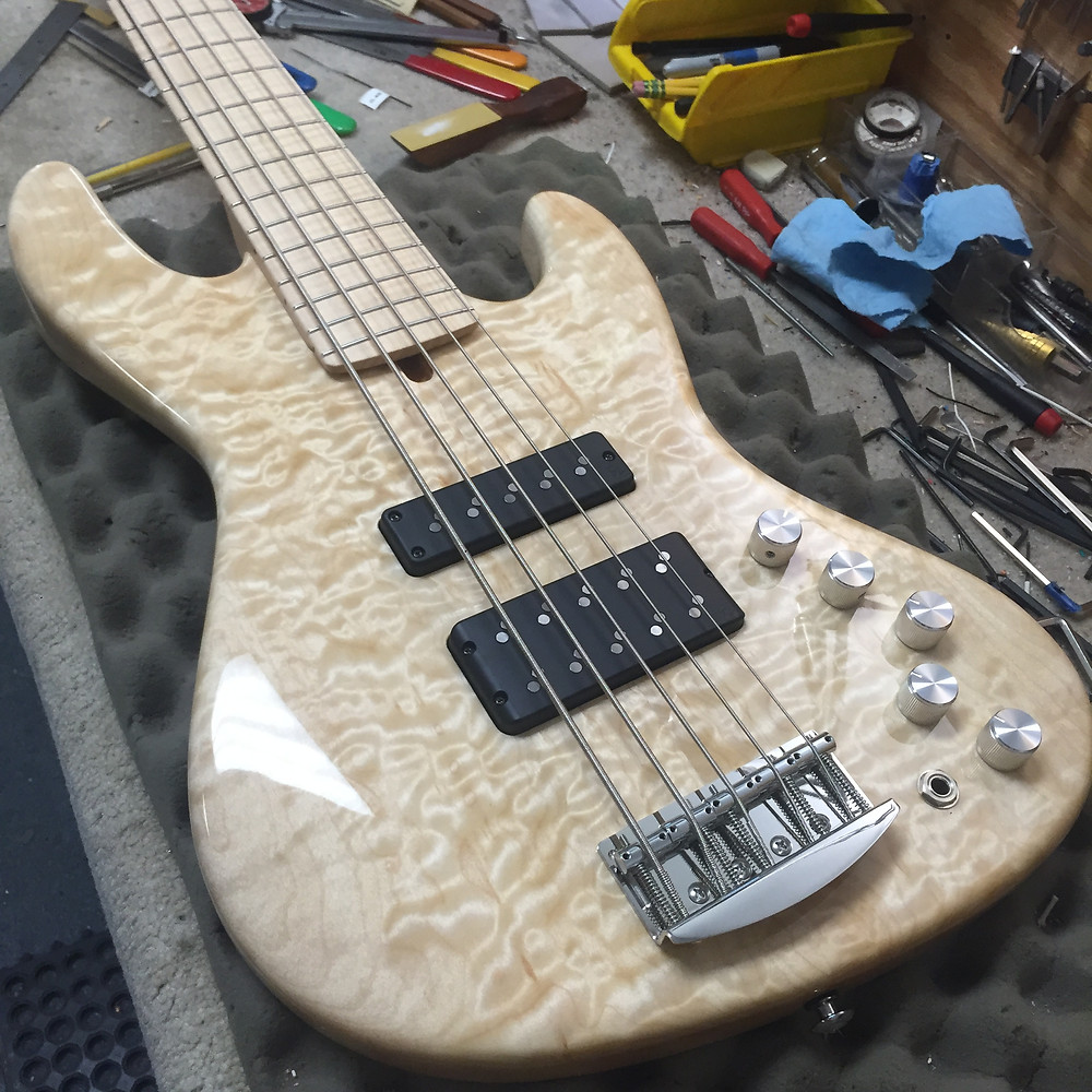 Here's the bass with a Big Split in the neck position.