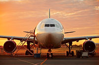 large-aircraft-at-the-beautiful-sunrise-