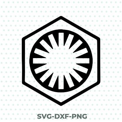 First Order Logo - Star Wars SVG / DXF / PNG
