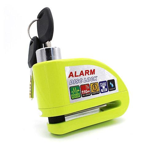 Cadeado disco com alarme amarelo