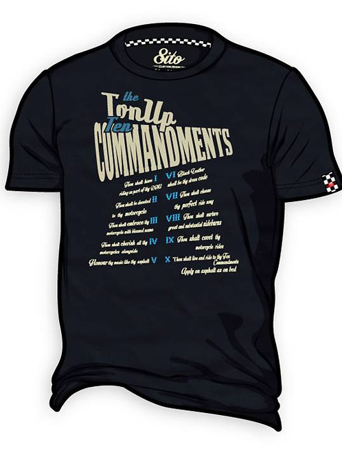 T-Shirt 8ITO Ten Commandments Asphalt