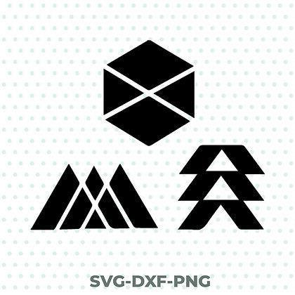 Destiny Class Pack SVG / DXF / PNG Titan - Warlock - Hunter