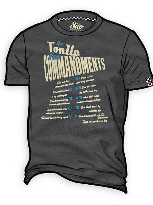 T-Shirt 8ITO Ten Commandments Foxy Grey