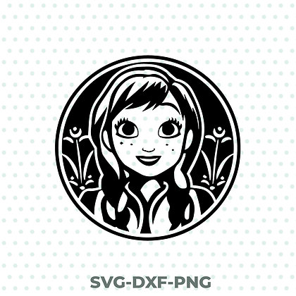 Anna Badge SVG / DXF / PNG Frozen