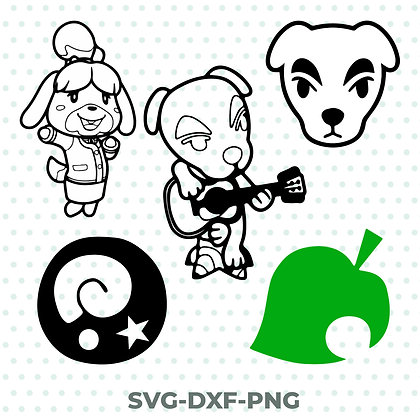 Animal Crossing Bundle SVG / DXF / PNG Nintendo Inspired Design