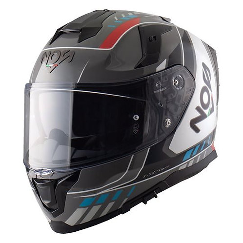 Capacete NOS NS 10 MIG Red Blue