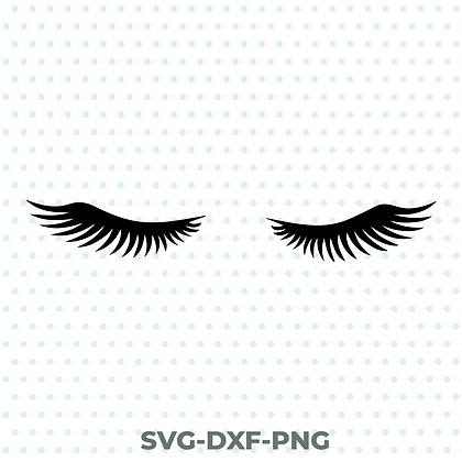 Eyelashes SVG / DXF / PNG Beauty