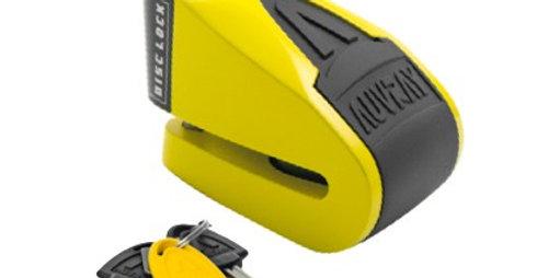 Cadeado AUVRAY - Disco com alarme B-Lock 06 Amarelo / Preto