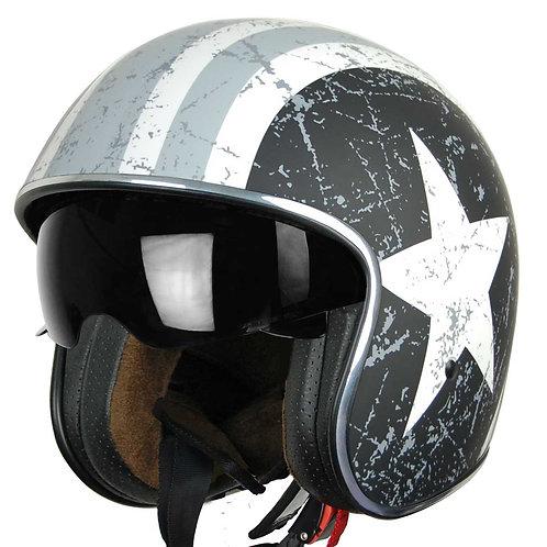 Capacete Jet Origine Rebel Star Matt Gray