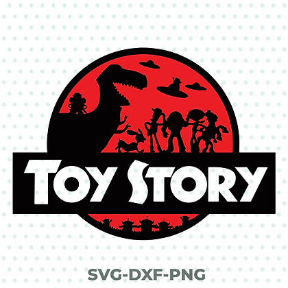 Toy Story / Jurassic Park SVG / DXF / PNG Funny Movie Design