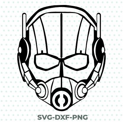 Antman Helmet SVG / DXF / PNG Avengers