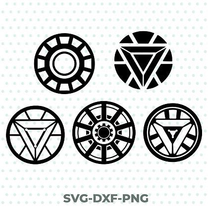 Iron Man Arc Reactors SVG / DXF / PNG Avengers