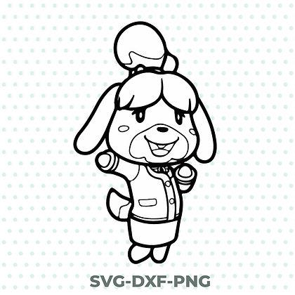 Isabelle Animal Crossing SVG / DXF / PNG Nintendo Inspired Design