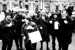 Giuditta Pieti in gruppo Libera Università delle Donne