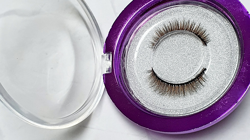 Short brown lashes