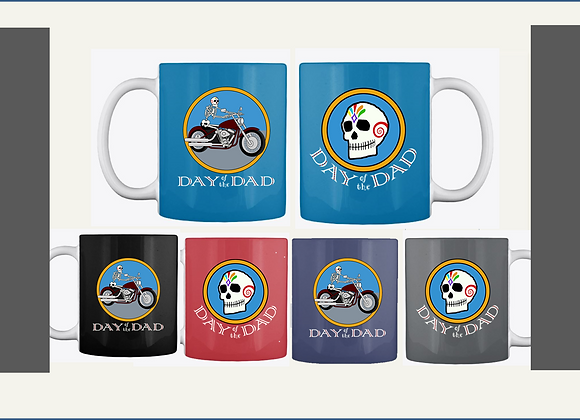 MOTORCYCLE DAD MUGS, TWO SIDED