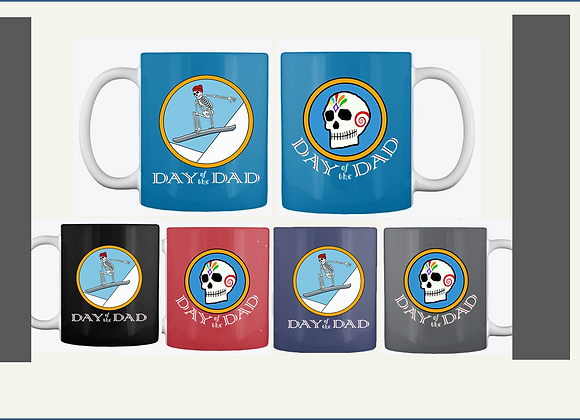 SNOWBOARDER DAD MUGS, TWO SIDED