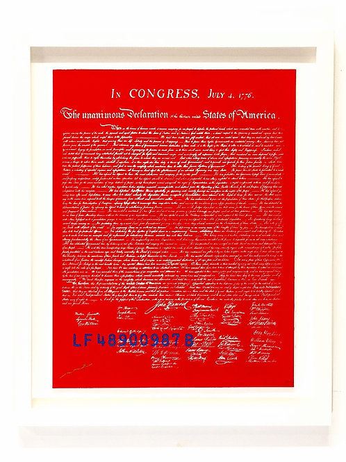 The 1ST E-DITION #001/100: e declaration of independence (red)