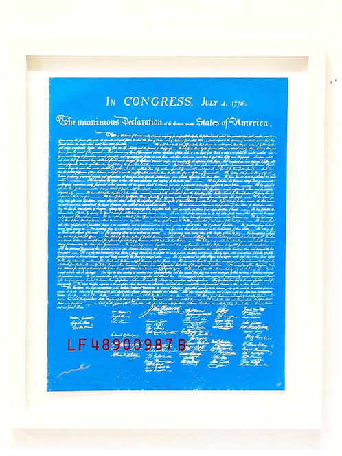 The 1ST E-DITION #001/100: e declaration of independence (blue)