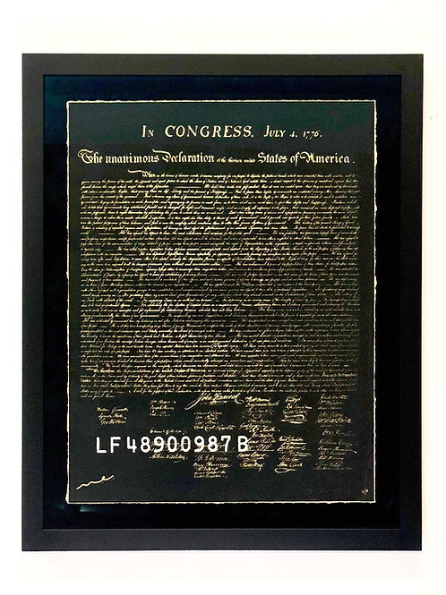 The 1ST E-DITION #001/100: e declaration of independence (gold e-dition)