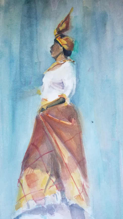 WOMAN IN MADRAS