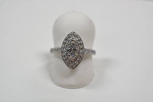 Lt. Blue marquise diamond ring