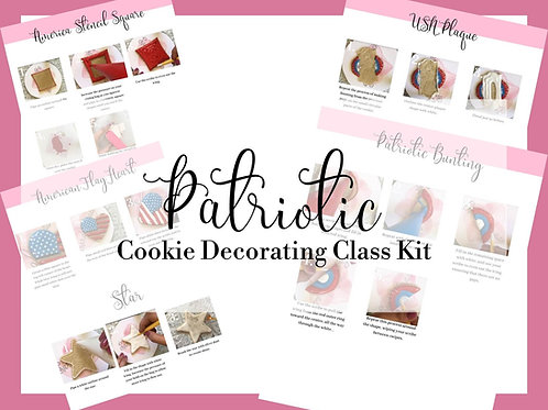 Patriotic Cookie Decorating Class Plans and Decorating Guides