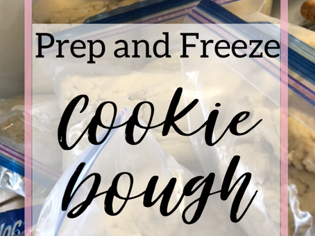 How to Freeze Cookie Dough- Batch Prepping Dough and Freezing for Later Use