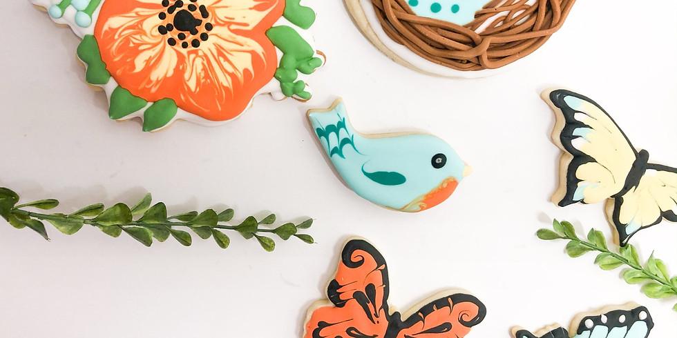 Cookie Decorating Class Birds and Butterflies