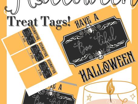 Cute Halloween Treat Tags!