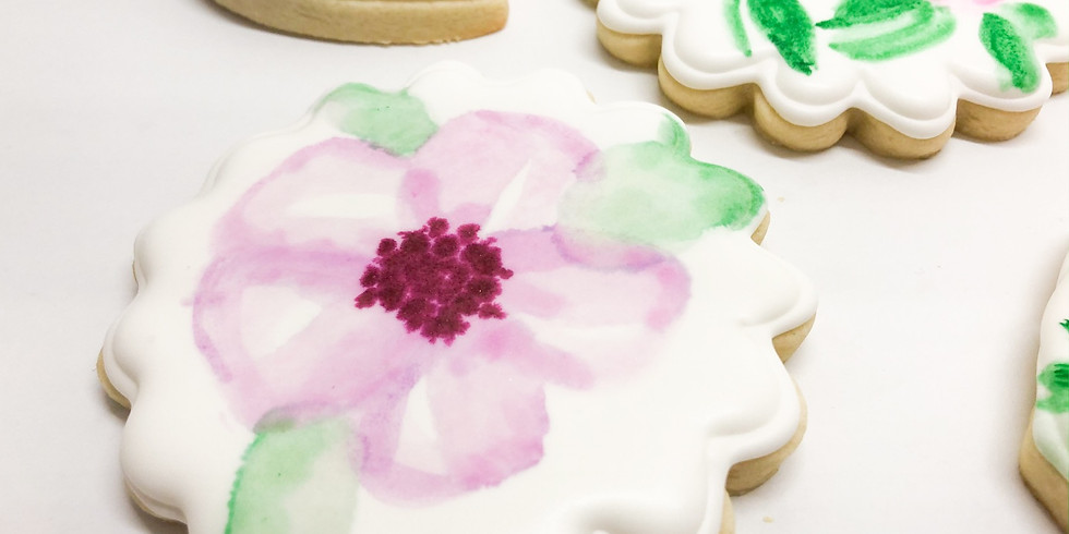 Cookie Decorating Class (Watercolor Flowers)